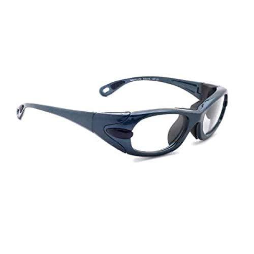 Gafas de radiación modelo EGM para protección XRAY, gafas con plomo (azul)