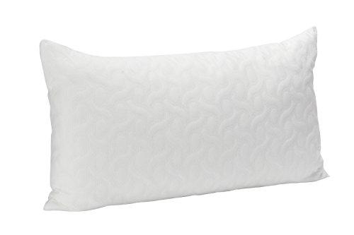 Pikolin Home - Almohada viscoelástica de copos con Aloe Vera confortable, ideal para dormir de lado de firmeza alta