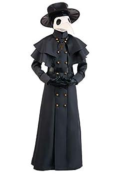 Kids Classic Plague Doctor Costume Child Black Plague Outfit Large