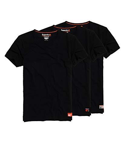 Superdry Sdry Lndry Slim Tee Triple Pack T-Shirt für Herren, Schwarz Small