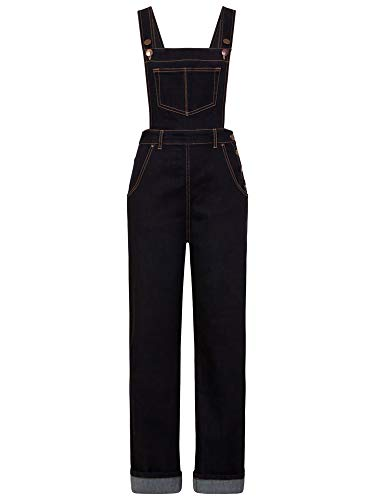 Hell Bunny Damen Latzhose Elly May Denim Dungarees 5474 (XS, Navy Blau)