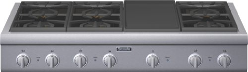 Thermador Professional : PCG486GD 48 Pro-Style Gas Rangetop 6 Pedestal Star Burners, Griddle 2 Manufactured to the Highest Quality Available. Design is stylish and innovative. Satisfaction Ensured. Great Gift Idea.