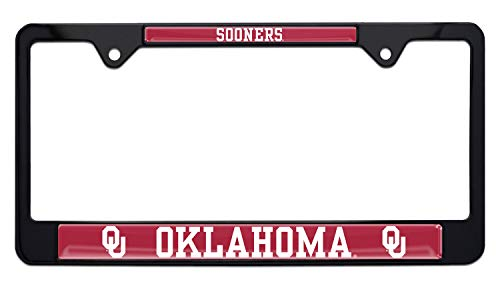 Elektroplate University of Oklahoma Sooners Black License Plate Frame