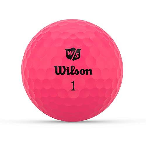 Wilson Staff Golfbälle, Duo Optix, 12 Bälle, Pink, Matte Oberfläche, Einfache Auffindbarkeit, WGWP50900