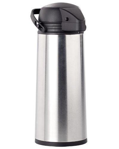 Rosenstein & Söhne Pumpkanne: Edelstahl-Pump-Vakuum-Isolierkanne, 1,9 Liter (Kanne)