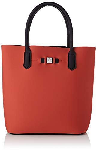 SAVE MY BAG Mujer bolso cubo Rojo Size: 32x33x19 cm (W x H x L)
