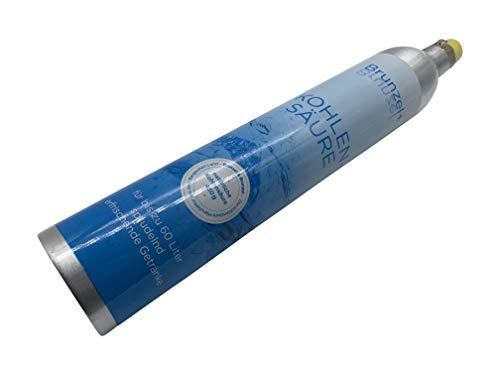 K&K 1 Stück CO2 Zylinder geeignet für Soda Stream Wassersprudler Crystal Sodastream Cool, Aqvia Bis zu 60 Liter Sprudelwasser pro Füllung Neu und mit 430g CO2 gefüllt