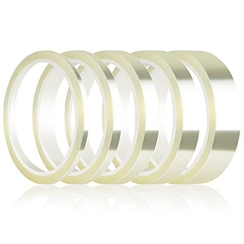 Homgaty 5 rollos de cinta adhesiva resistente al calor, cinta aislante de alta temperatura de poliimida para impresoras 3D, impresión por sublimación, soldadura por ondas