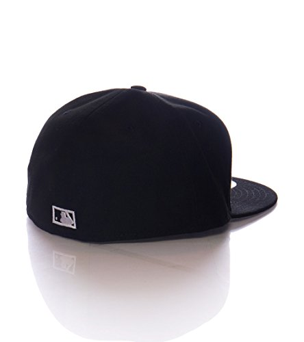 New Era 59Fifty Hat MLB Miami Florida Marlins Cooperstown F Fitted Black Cap (7 7/8)