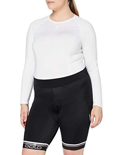 Odlo Damen Tights Short Flash X Hose, Black Graphite Grey, XL