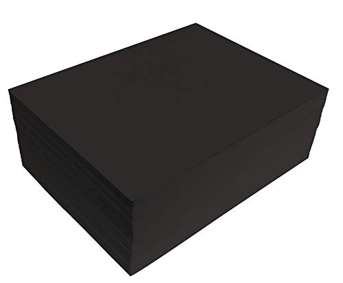 Black EVA Foam Sheets, 20 Pack, 6mm Extra Thick, 9 x 12 Inch, Better Office Products, Black Color, for Arts and Crafts, 20 Sheets Bulk Pack