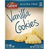 Gefen Vanilla Cookies Gluten Free Kosher For Passover 5.3 Oz. Pack Of 3.