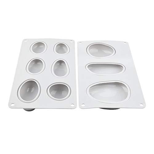 Nrpfell 2 PCS Forme de Galets Moule de Savon en Silicone de Qualité limentaire Silicone Glace Moule Carré Outils de Cuisine