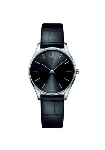CK K4D221C1 - Reloj de Pulsera Hombre, Piel, Color Negro