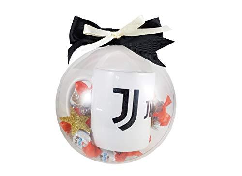 Idea Regalo Pallina Natalizia fai da te con Kinder Schok-Bons e Tazza Squadra del Cuore (Juventus)