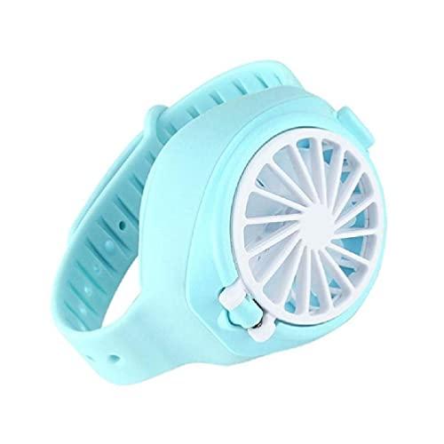 LHJCN Mini Ventilador mecánico Personal portátil para Reloj, portátil, Ultra silencioso, de Tercera Velocidad, Enfriador de Aire, USB, Plegable, pequeño Ventilador de Bolsillo para Verano, hogar,