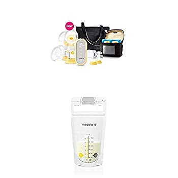 Medela Freestyle Flex Breast Pump and 100 Count Breast Milk Storage Bags Closed System Quiet Portable Double Electric Breastpump Ready to Use Breastmilk Bags for Breastfeeding