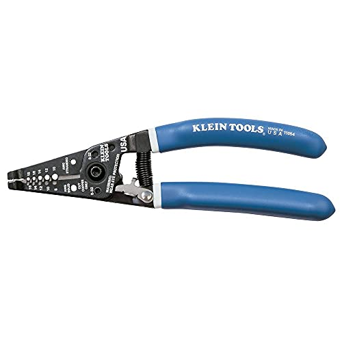 Klein Tools 11054 Wire Stripper and Cutter for 8-16 AWG Solid and 10-18 AWG Stranded Wire with...
