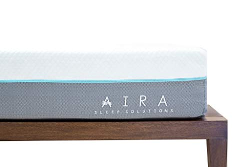 AIRA Colchon Memory Foam 10' (25cm) Anti acaros, Cool Gel (Individuales) en Caja 10 años de Garantia y 60 Noches de Prueba