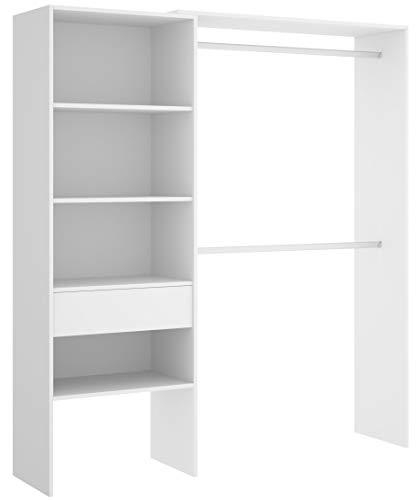 Miroytengo Vestidor Armario ropero 1 cajón habitación Juvenil Infantil Blanco Suit Dormitorio...