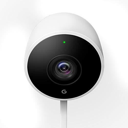 Google Nest Cam Outdoor Überwachungskamera, Weiß. Noch nie sah Sicherheit so gut aus.