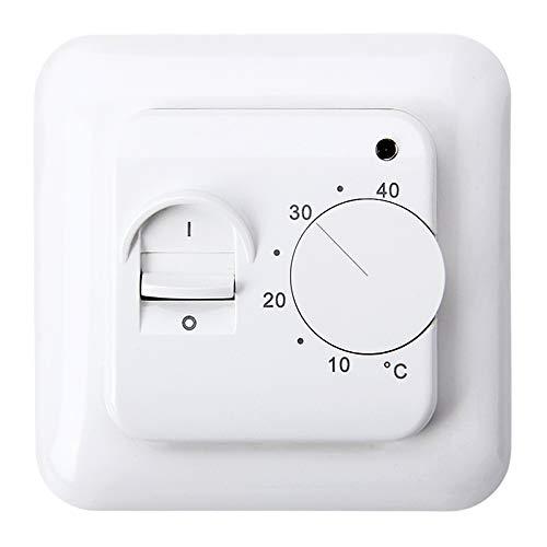 FGY Manuelles Thermostat, Boden elektrisch Heizungsregler Temperaturregler Mechanischer Thermostat Klimaanlage Temperaturregelung Schalter