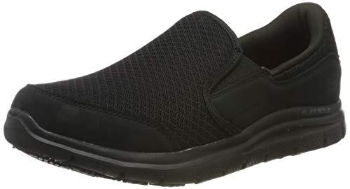 Skechers Women's COZARD Slip On Trainers, Black (Black Mesh/Nubuck Water Stain Repellent Blk), 7 (40 EU)
