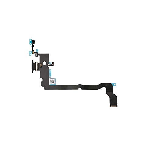 Best Shopper - Replacement Charging Port Flex Cable Compatible with Apple iPhone Xs Max - Space Grey
