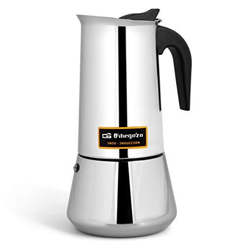 Cafetera italiana inox ORBEGOZO KFI1260 | ORBEGOZO 12 tazas