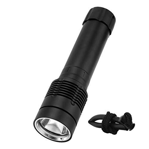 8000LM LED XM-L2 LED Lampe de Poche,Étanche 100 mètres, 26650 Rechargeable,OVERMAL Natation Plongée étanche Alliage d'aluminium Torche Distance d'éclairage 200-500 m
