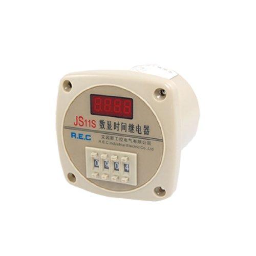 Aexit AC 380V 1-9999 Segunda pantalla digital Relé de (model: N7469VIX-6452OS) tiempo eléctrico JS11S