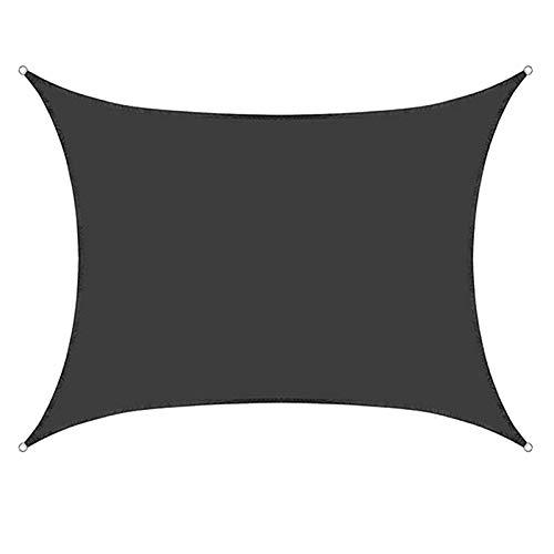 MEIDEL Rechteck Sonnenschutz Segel 6x6m Sonnenschutz Wetterschutz Wasserabweisend Hergestellt hochwertigem Polyester für Außenanlagen und Aktivitäten, Dunkelgrau