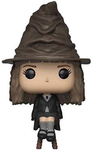 WYETDAS Figuras Pop Hermione Granger Sombrero mágico Silla para Sentarse Harry James Potter Amigo Mini versión Q Figura de Anime Animaciones de Juguete Modelo de Personaje 3.9 Pulgadas
