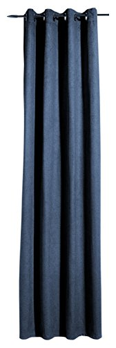Heco Ösenschal, Stoff, Blau, 245 x 138 cm
