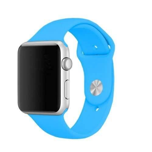 Pulseira Silicone Compatível Relógio Apple Watch 38 / 42mm (azul turquesa 38 m/l)