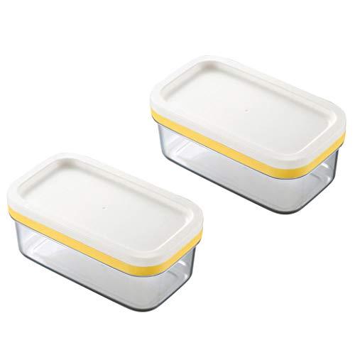 P Prettyia Boîtes Alimentaires Rangement de Beurre Étui Plastique avec Couvercle