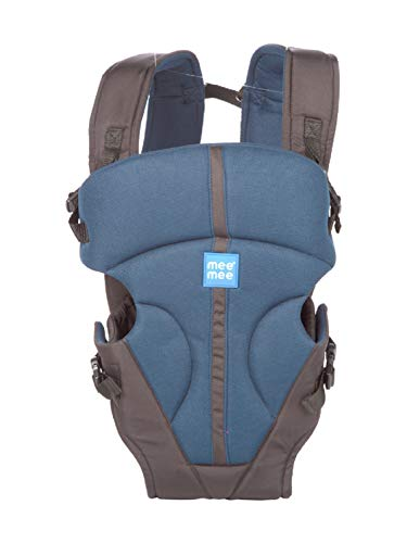 Mee Mee Light Weight Baby Carrier (Lightweight Breathable, Light Navy Blue)