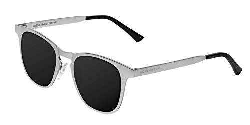 NORTHWEEK Regis Southbank Gafas, Plata - Negro, Adulto Unisex Adulto