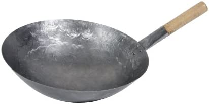 discount Town Food Service 14 Inch wholesale Steel Mandarin Style high quality Wok W/Wood Hdle sale