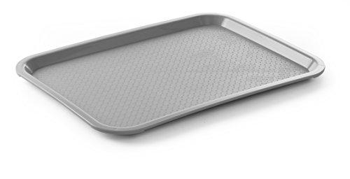 HENDI Bandejas para comida rápida (mediana) - Gris claro - 305x415x(H)20 mm
