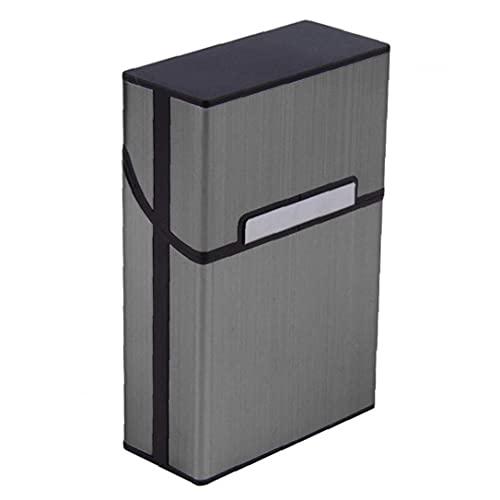 Tenedor De Cigarrillo Con Estilo Caja De Cigarrillos De Aluminio Cubierta Magnética De Metal Cigarettes De Cigarrillos Caja De Cigarrillos Fumar Accesorios De Viaje Para Hombre Grey Holloween Regalos