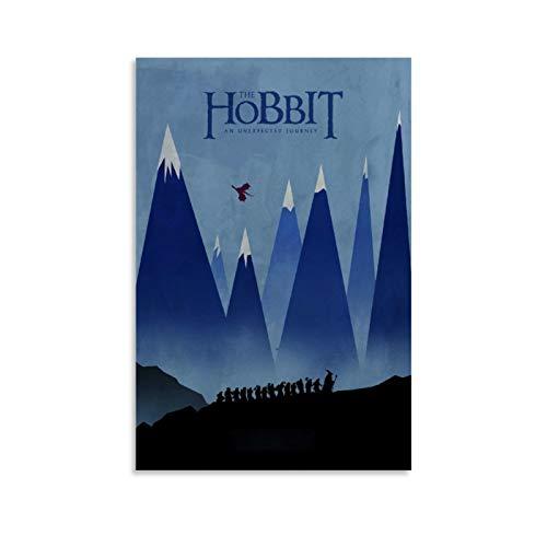 Póster minimalista de The Hobbit – El Señor de los Anillos, decoración de regalo, póster decorativo de pared, lienzo para sala de estar, dormitorio, 50 x 75 cm