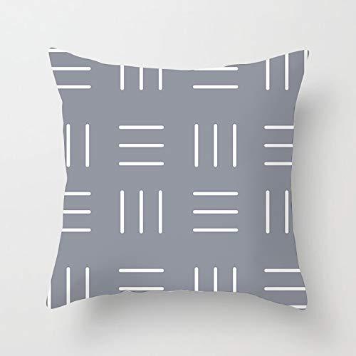 PPMP Funda de Almohada de Tiro Gris nórdico, Funda de cojín geométrica Floral Retro para decoración del sofá del hogar, Funda de Almohada, Funda de cojín A14 45x45cm 1pc
