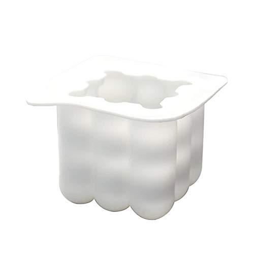 Candela stampi, silicone 3D sfera cubo Rubik Forme per fare fai da te in casa della cera d'api Candele