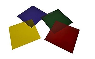 Par 64 / Parcan 64 Gels - 4 x Stage Lighting Filters Colour Gel Pack