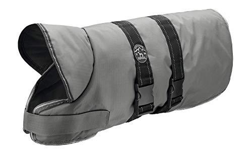 HUNTER Denali Hundemantel, Wintermantel, Fleecefutter, wasser- und windabweisend, reflektierend, 55, grau