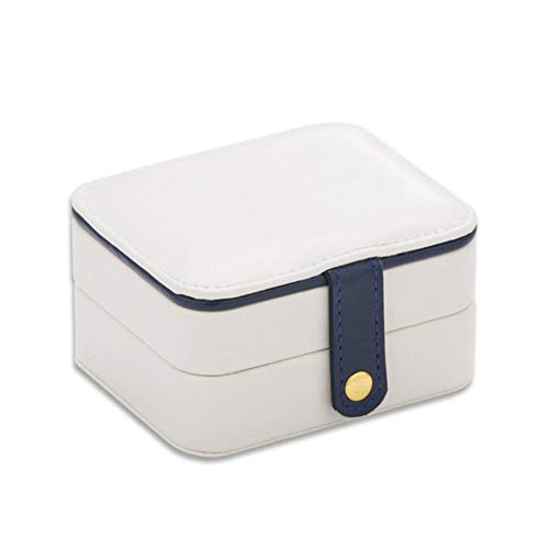 ZHANGCHI Jewelry Boxes Multi-Function Portable Jewelry Box Earrings Rings Storage Box Small Mini South Travel Leather Jewelry Box With Mirror