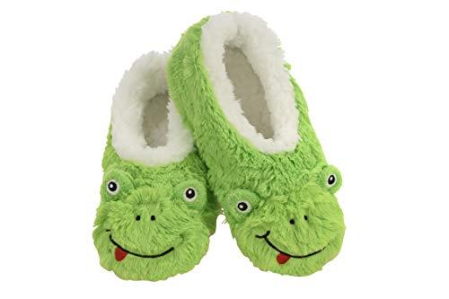 cute plush frog slippers