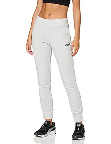 PUMA ESS Sweat Pants TR cl Pants, Mujer, Light Gray Heather, L