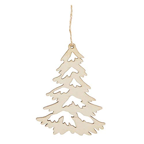 Darice Tree Ornament Wood Unfinished, 4 x 3 inches